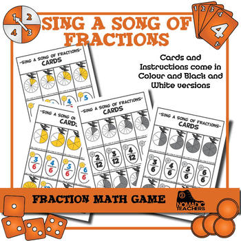 "Matching Equivalent Fractions Game - ""Sing a song of fractions"""