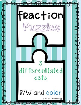 Matching Equivalent Fractions Puzzles