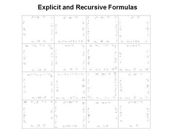 Matching Explicit and Recursive Formulas