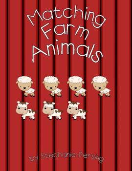 Matching Farm Animals- Comparing Quantities to Determine Which Number is Larger