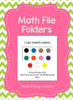 Matching File Folders: Colors