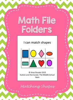 Matching File Folders: Shapes