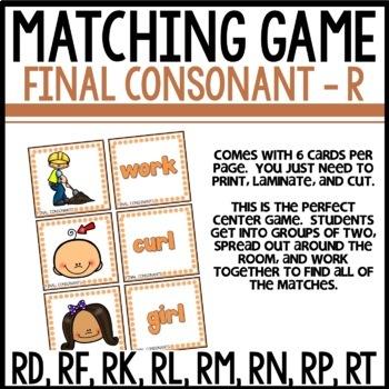 Matching Final Consonants (RD, RF, RK, RL, RM, RN, RP, RT