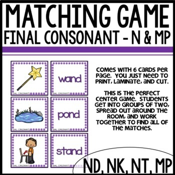Matching Final consonants (n and mp)
