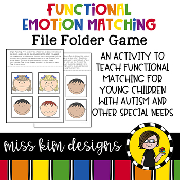 Matching Folder Game: Simple Emotion Icons for Early Childhood Special Education