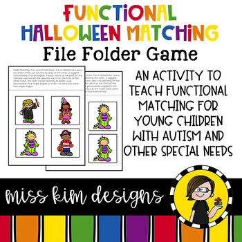 Matching Folder Game: Simple Halloween for Early Childhood Special Education