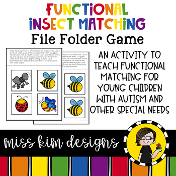 Matching Folder Game: Simple Insects for Early Childhood S