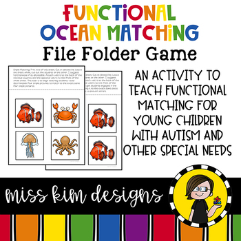 Matching Folder Game: Simple Ocean Animals for Early Childhood Special Education
