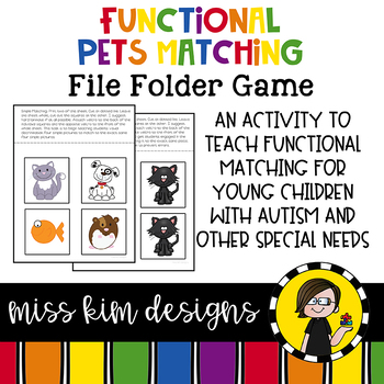 Matching Folder Game: Simple Pets for Early Childhood Special Education