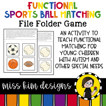 Matching Folder Game: Simple Sports for Early Childhood Special Education