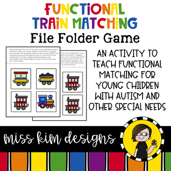 Matching Folder Game: Simple Trains for Early Childhood Special Education