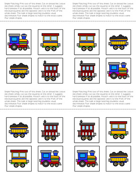 Folder Game: Functional Train Matching for Students with Autism & Special Needs