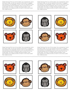 Matching Folder Game: Simple Zoo Animals for Special Education