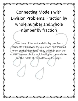 Matching Fraction Division with Models