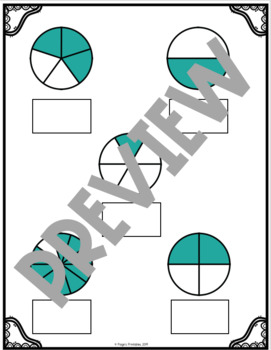Matching Fractions File Folder Math Center for Special Education