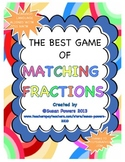 Matching Fractions  Math Centers Activity