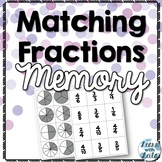 Matching Fractions Memory Game
