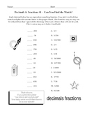 Matching Fractions and Equivalent Decimals