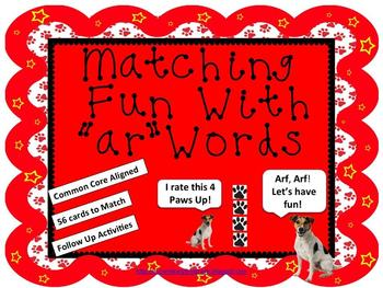 """Matching Fun with """"ar"""" Words (Common Core Aligned)"""