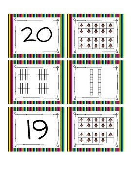 Matching Game 0-20 (Ten Frames, Tally Marks, & Tens and Ones)