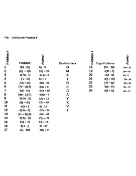 Matching Game - Algebra - Distributive Property 5