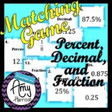 Fractions, Decimals and Percents Matching Game