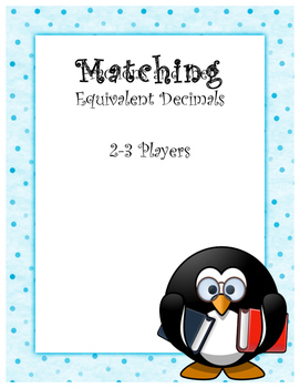 Understanding Fractions and Their Equivalent Decimals: Matching Game