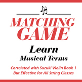 Matching Game: Learn Musical Terms from Suzuki Book 1