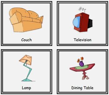 Matching Game (Livingroom Vocabulary)