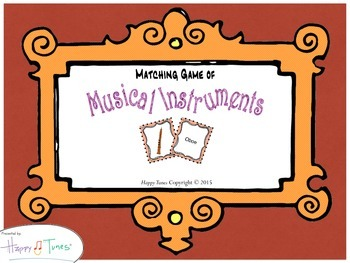 Matching Game Musical Instruments Music
