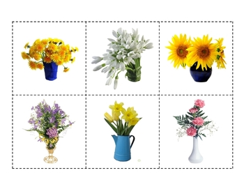 Matching Game - Spring Flowers Bouquets