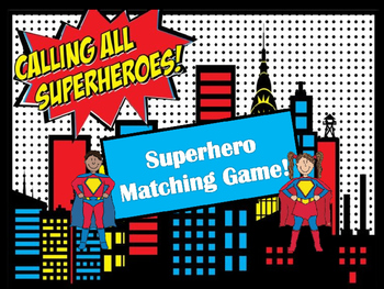 Matching Game - Superhero ESL
