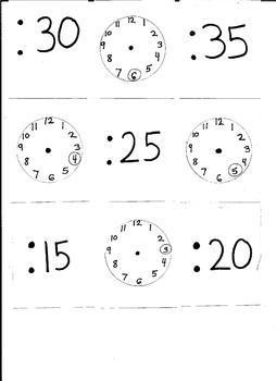Matching Game: Telling Time Matching Minutes