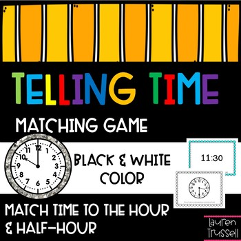 Matching Game: Time to the Hour and Half-Hour