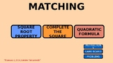 Matching Game with Quadratics