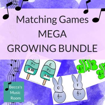 Matching Games for Music Centers MEGA GROWING BUNDLE