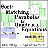Matching Graphs of Parabola with Quadratic Equations Revie