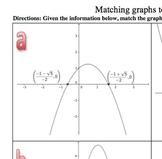 Matching Graphs of Quadratic Equations