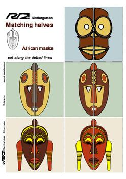 Matching Halves African Masks