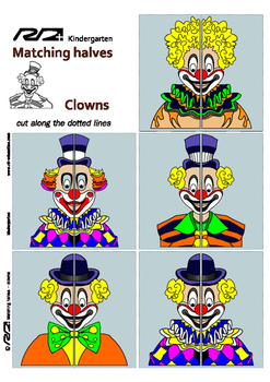 Matching Halves Clowns