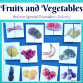 Fruits and Vegetables Activity - Matching Halves for Autism