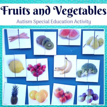 Matching Halves- Fruits & Vegetables