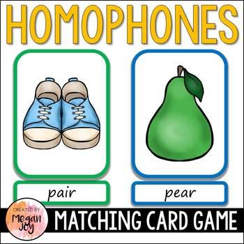 Homophones Card Game