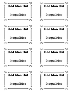 Matching Inequalities - Odd Man Out