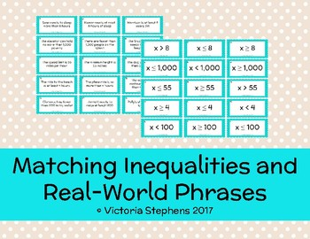 Matching Inequalities and Real-World Phrases