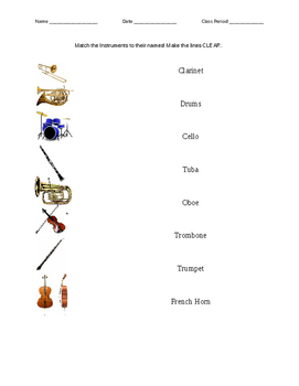 Matching Instruments Test