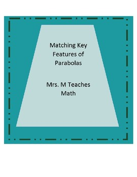 Matching Key Features of Parabolas
