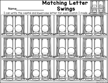 Matching Letter Swings - Letter Identification