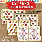 Matching Letters File Folder Games FALL THEME