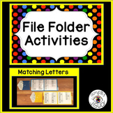 Matching Letters File Folder Activities